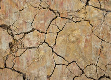 Closeup of dry soil texture. Stock Photo