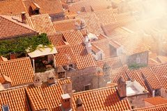 Closeup of Dubrovnik roofs Royalty Free Stock Photo