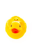 Closeup duck toy on white background. Royalty Free Stock Photo
