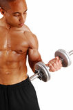 Closeup of dumbbell lifting. Stock Photography