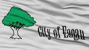 Closeup of Eagan City Flag Stock Images
