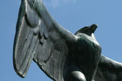 Closeup of eagle statue Royalty Free Stock Photo