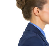 Closeup on ear of business woman Stock Images