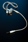 Closeup of earphones jack Stock Images