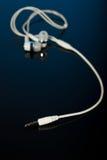 Closeup of earphones jack Stock Images