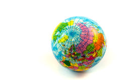 Closeup of the earth place on white background Stock Image
