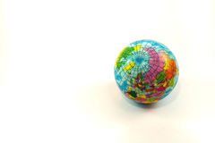 Closeup of the earth place on white background Stock Photography