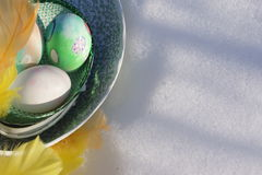 Closeup of a Easter-egg with copyspace Royalty Free Stock Image
