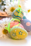 Closeup of Easter Eggs Royalty Free Stock Images