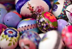 Closeup of easter eggs Royalty Free Stock Photo