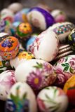 Closeup of easter eggs Stock Photos
