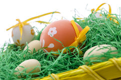 Closeup of easter eggs Stock Images