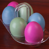 Closeup of easter eggs Stock Photography