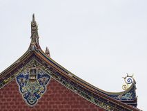 Closeup of eaves of traditional house, Penang Stock Images