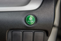 Closeup of Economic button in a car Royalty Free Stock Images