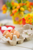 Closeup on eggs ready for Easter decoration Royalty Free Stock Photos