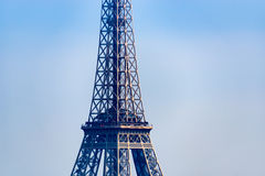 Closeup of the Eiffel Tower Stock Photography