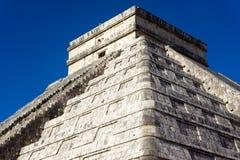 Closeup of El Castillo in Chichen Itza Stock Photos