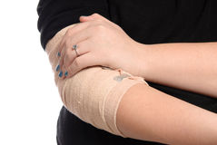 Closeup Elbow Injury Stock Image
