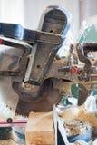 Closeup of electric circular cut off saw. Royalty Free Stock Images