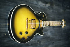Closeup of electric guitar Royalty Free Stock Image