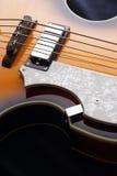 Closeup of electric guitar. Detail, selective focus. Royalty Free Stock Image