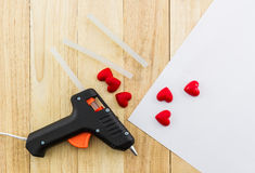 Closeup electric hot glue gun. Stock Photography