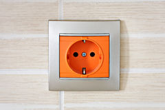 Closeup of electric power socket Royalty Free Stock Image
