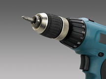 Closeup of electric screwdriver Royalty Free Stock Photography