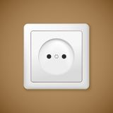 Closeup of electrical outlet. Royalty Free Stock Photo