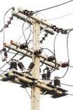 Closeup electrical pole stock photos