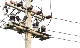 Closeup electrical pole stock image