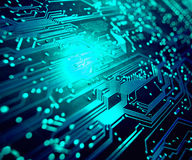 Closeup of electronic circuit board Stock Images
