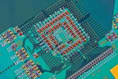 Closeup of electronic circuit board Stock Photography