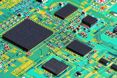 Closeup of electronic circuit board. Background can use the Internet, print advertising and design Stock Image