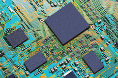 Closeup of electronic circuit board Royalty Free Stock Photography