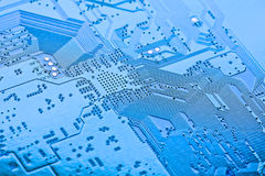 Closeup of electronic circuit board Royalty Free Stock Image