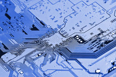 Closeup of electronic circuit board Royalty Free Stock Images