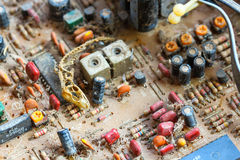 Closeup electronic circuit board Stock Images