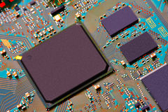 Closeup of electronic circuit board Stock Photos