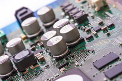 Closeup of electronic circuit board Royalty Free Stock Photos