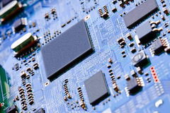 Closeup of electronic circuit board Stock Photo