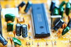 Closeup electronic circuit board. Background royalty free stock photos