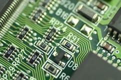 Closeup of electronic circuit board Stock Photos