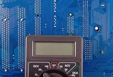 Closeup of electronic circuit board Stock Photography