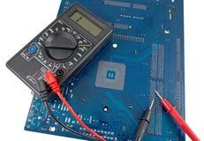 Closeup of electronic circuit board Stock Image