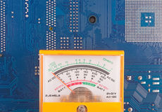 Closeup of electronic circuit board Royalty Free Stock Photo