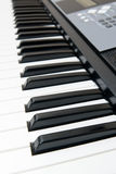 Closeup of Electronic Piano Stock Photography