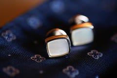 Closeup with elegant cufflinks Stock Photography