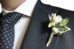Closeup Elegant Man Blue Suit Flagship Stock Photos